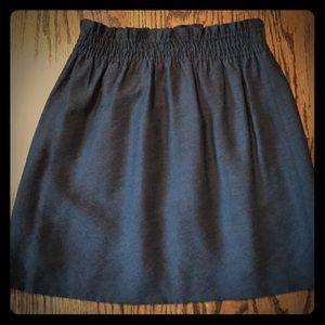 J Crew paper bag waist skirt.